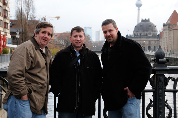 Tom, Bill and Jim in Berlin, Germany