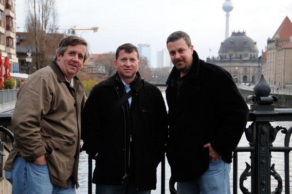 Tom, Bill and Jim in Berlin, Germany
